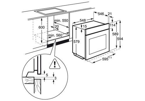 Электрический духовой шкаф AEG BEM455120M, фото 2